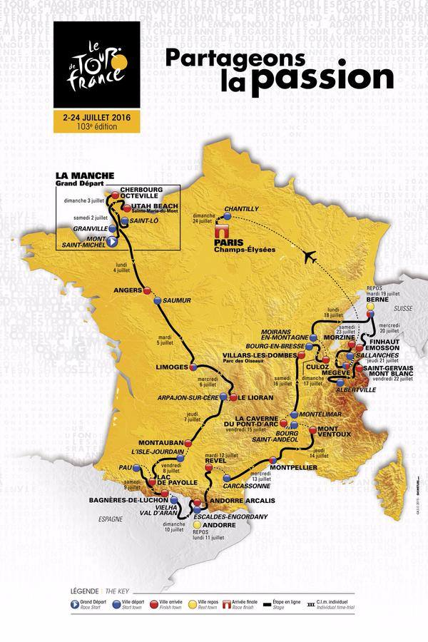 Route 2016 TDF