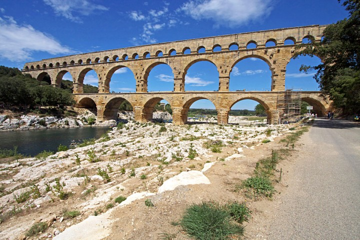 The Pont du Gard, from Roman times, is nearby. One of the world' greatest engineering feats, it brought water all the way from Uzès to Nimes.