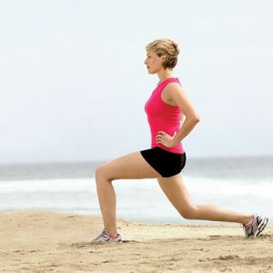 Stretching position n 2 : the lunge